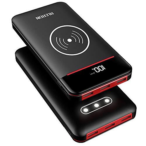 classement un comparer Power Bank RLERON 25000 mAh, chargeur inductif sans fil haute vitesse avec 3 ports USB…