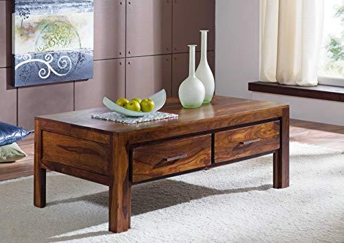 MASSIVMOEBEL24.DE Massivholz lackiert Sheesham Möbel Life Honey Couchtisch 115x65 Palisander Massivmöbel massiv Holz Metro Life #105