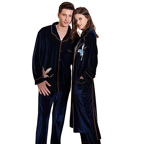 SGSG Batas para Mujer, camisón, Bata de Noche, Albornoz de Terciopelo, tentación Sexy, Pijamas de grúa para Parejas, Servicio a Domicilio de Bodas, Hombres-M