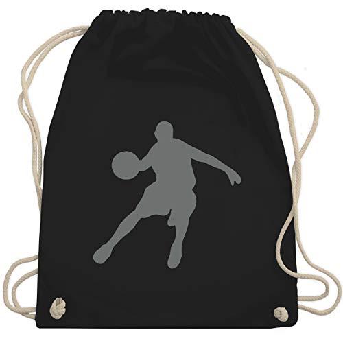 Shirtracer Basketball - Basketballspieler - Unisize - Schwarz - basketball trikot kinder - WM110 - Turnbeutel und Stoffbeutel aus Baumwolle