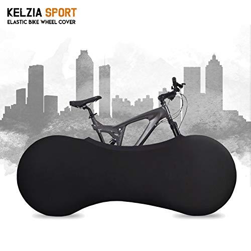Kelsport Funda Elástica Universal de Bicicletas para Almacenamiento en Interiores (Negro)