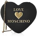 Love Moschino Borsa a Spalla da Donna, Bolso de Hombro para Mujer, colección otoño-Invierno 2021, Negro, Talla única