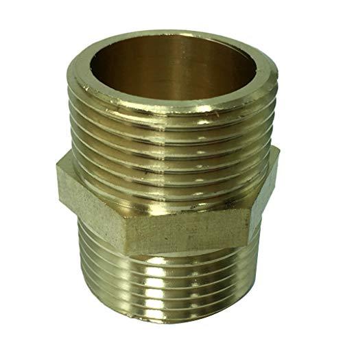 non-brand - Adaptador de conexión de Rosca Hexagonal de latón DN25, Conector de Aceite y Agua con Rosca Macho