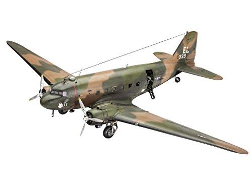 Revell Modellbausatz Flugzeug 1:48 - AC-47D Gunship im Maßstab 1:48, Level 5, originalgetreue Nachbildung mit vielen Details, 04926