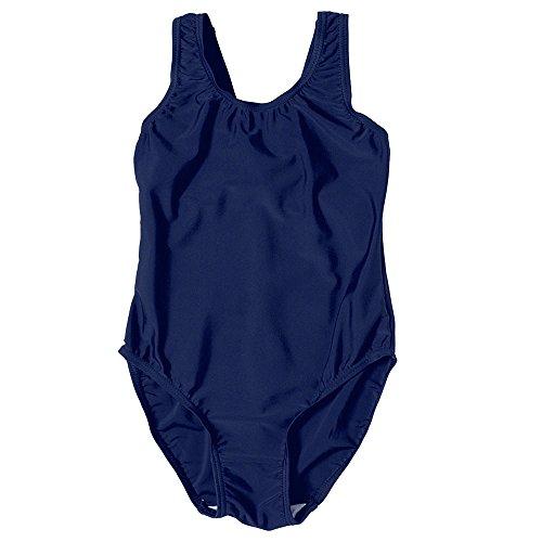 7190 Mädchen Badeanzug, für den Schulunterricht, blau