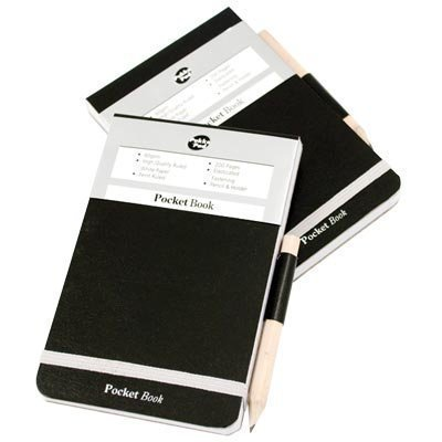 Pukka Pad Black A7 Pocket Elastic Notebook With Pencil - Pack of 12