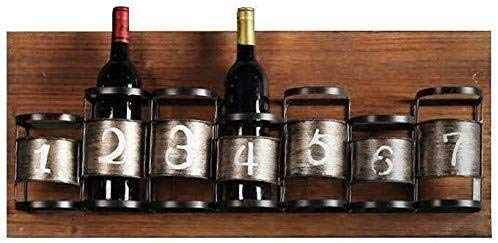 YAGEER JJIAGD Wine Bottle Wall Mount Wood Wine Rack Bottle Holder Hanging Storage Decorative Display Floating Wine Storage Shelf Sturdy Construction