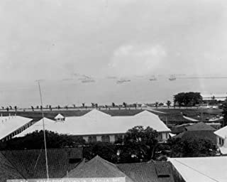 1899 photo Aerial view of Manila Bay, with transports in background, Philippi a9