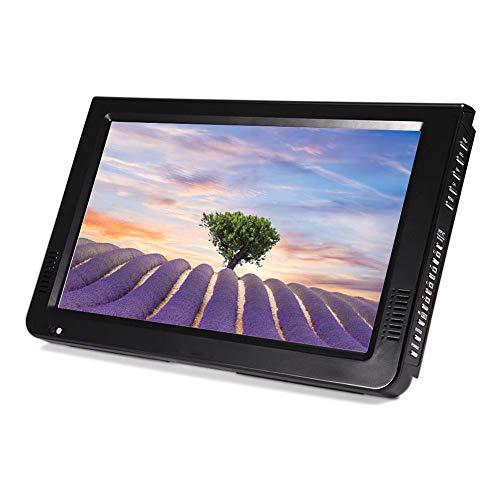 Exliy TV Portatile, TV Widescreen Portatile da 10 Pollici, sintonizzatore TV Digitale per Auto 1024x600p con DVB-T T2, ATV con antenne Rimovibili, Supporto VGA AV Cuffie HDMI USB SD MMC Card(EU Plug)