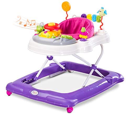 Caretero Toyz Stepp Lauflernhilfe Gehhilfe Laufhilfe mit Spielcenter Violet