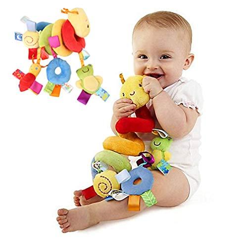 cheap4uk Juguetes de peluche para colgar en espiral, cochecito, carrito de cuna, carrito de bebé, juguetes educativos, oruga con dispositivo de abeja BB