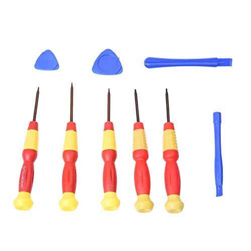 QAPKMT schroevendraaier 1 stuk Torx T2 T3 T4 T5 T6 reparatieset mobiele telefoon gereedschap schroevendraaier magnetisch gereedschap Rood