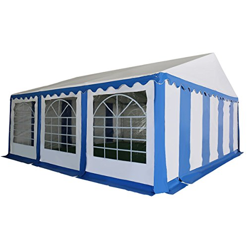 Tangkula 20'X20' PVC Tent Party Wedding Outdoor Heavy Duty Shelter Tent (Blue)