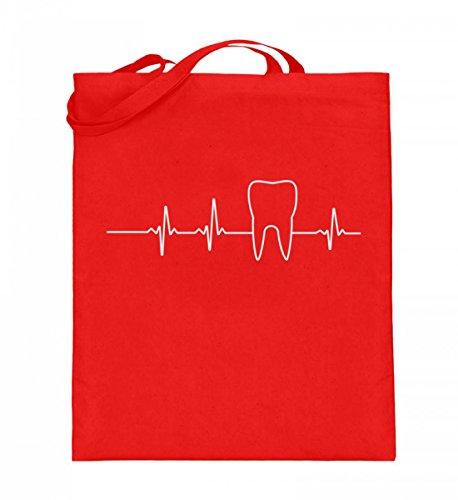 Chorchester Herzschlag Zahn Zahnarzt Zahnmedizin - Jutebeutel (mit langen Henkeln)