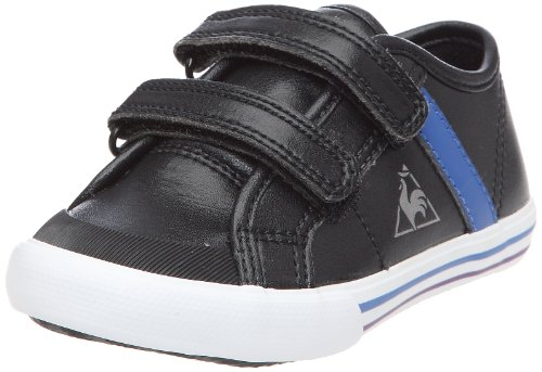 Le Coq Sportif Saint Malo Syn Inf Strap, Baskets Mode Mixte Enfant - Noir (Black/Olympian Blue), 21 EU