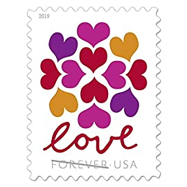 Hearts blossom stamps 1 sheets of (20) forever stamps issued by usps forever stamps will always be valid for first class postage even if rates change. Valid as us postage easy to use peel-n-stick - self adhesive no licking. For postcards, letters, mailing envelopes or collecting but for collectibles, birthday, teachers, occasions, weddings, parties, showers, celebrations and more