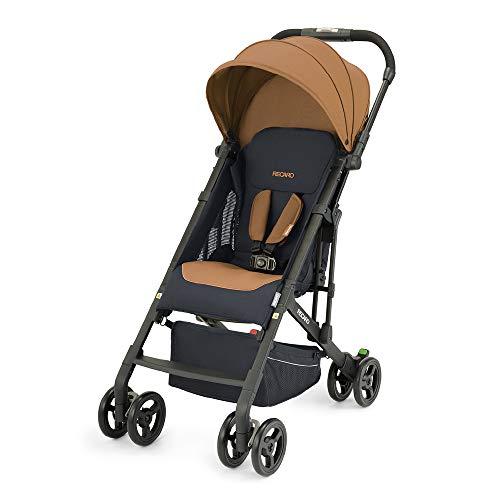 Recaro Kids, Buggy Easylife 2 (6 Monate-22 kg), Buggy 2 in 1 kompatibel mit Babyschale, Leichter Buggy, Kompakt, Einfach zu Bedienen, Hervorragende Luftzirkulation, Sonnenverdeck, Select Sweet Curry