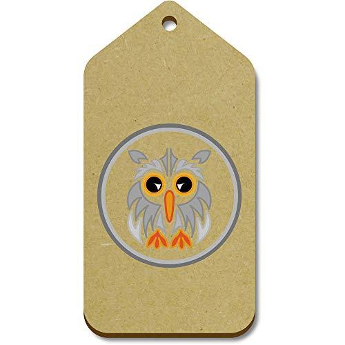 Azeeda 10 x Large 'Grey Owl Motif' Wooden Gift Tags (TG00095420)