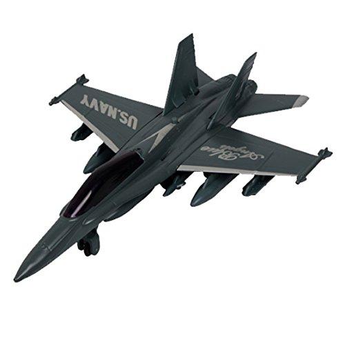 Kid alliage Jouets Mini Airplane Models, F-18 Fighter, couleur aléatoire