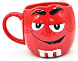 M&Ms Fun Sculpted Face Extra Large 24 oz Ceramic Coffee Tea Mug m&m m & m (Orange) by M&M