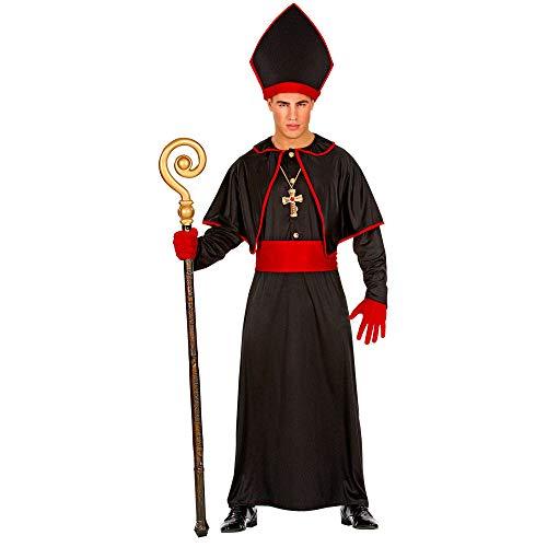 WIDMANN 02635  Disfraz, capa para el hombro, cinturn, sombrero de obispos, para fiestas temticas, carnaval, Halloween, multicolor
