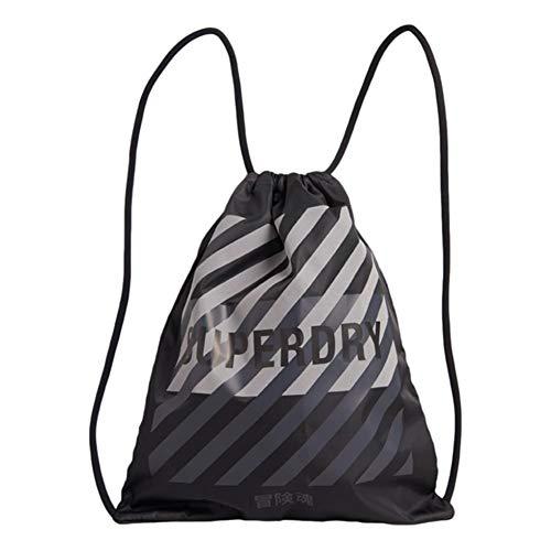 Superdry Reflektierende Tasche mit Kordelzug, Schwarz
