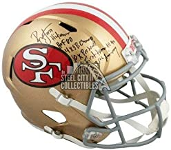 Ronnie Lott Autographed Signed 49Ers Tribute Full-Size Football Helmet Bas 6 Inscrip