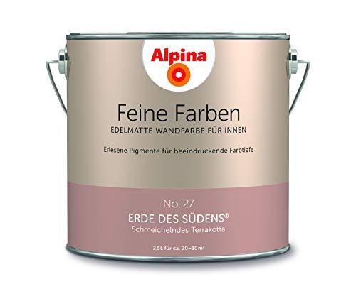 Alpina 2,5 L. Feine Farben, Farbwahl, Edelmatte Wandfarbe für Innen (No.27 Erde des Südens - Schmeic