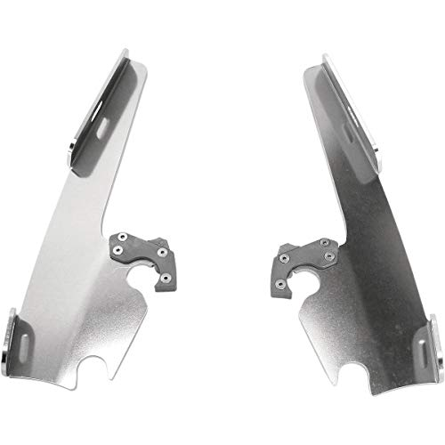 Memphis Shades Trigger-Lock Plate-Only Kit (Black/FATS and Slim WINDSHIELDS) for 15-21 Indian Scout