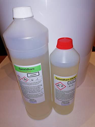 3 kg 2K-Epoxidharz- Das glasklare Giessharz Transparent Epoxi UV-Stabilisiert