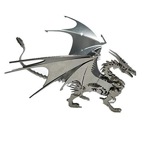 DYSD Acero Dragón Inoxidable Metal 3D Kits De Montaje De Puzzle para Niños Modelo Creativo Cumpleaños Decoración Colección De Juguetes