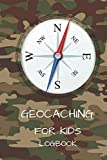 GEOCACHING FOR KIDS LOG BOOK: GREEN 6 X 9' PROMPTED JOURNAL FOR CHILDREN WITH 100 FINDS 20 HIDES AND 10 DOT GRID PAGES
