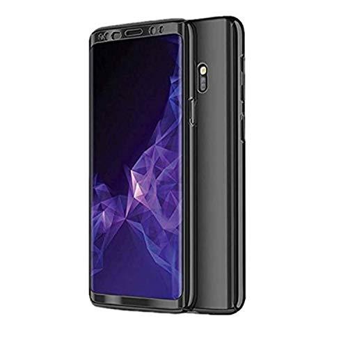 Jubyi Schutzhülle für Samsung Galaxy S7 Handyhülle, 3 in 1 Slim RobustHandy, Bumper Hülle, Glatt Hard PC Oberfläche Kratzfeste Cover für Samsung S7,Schwarz