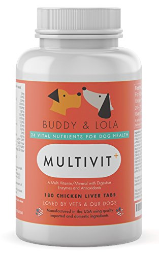 Buddy & Lola Multivitamin for Dogs – Advanced Daily Supplements to Improve Dog Health – Multivitamins, Nutrients…