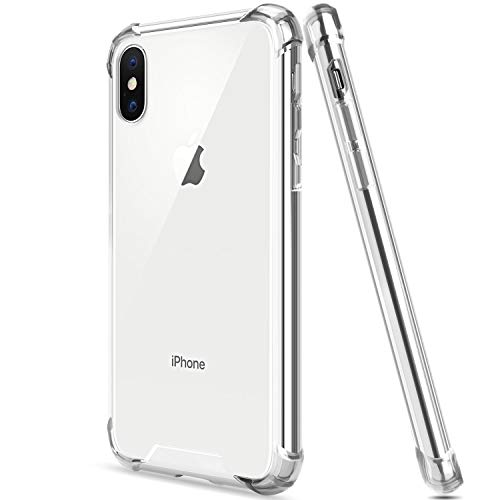 SALAWAT for iPhone Xs Case iPhone X Case, Clear iPhone Xs Case TPU Bumper Anti Scratch Thin Phone Case Cute Cover Reinforced Corners Shock Absorption Protective Case for iPhone X/Xs (Clear)