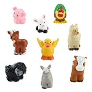 Farming fun with your favorite Little People animals! Sized just right for little hands Includes 9 animals in all! Bring them to the Little People Animal Friends Farm! (Sold separately and subject to availability) Perfect addition or beginning to any...