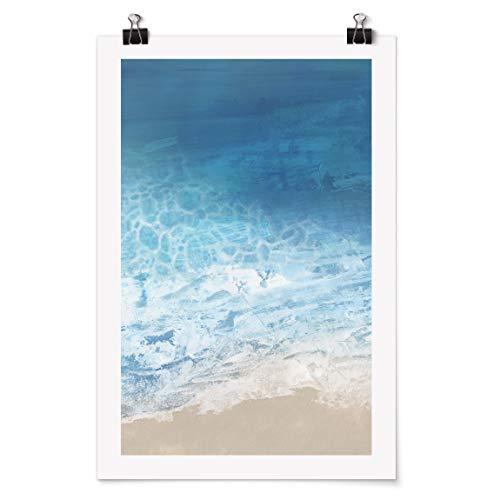 Bilderwelten Poster Galerieprint mit Klammern - Ebbe & Flut in Farbe I - Matt 30 x 20cm