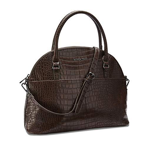 MARCO TOZZI Damen Handtasche 2-2-61028-25, Cafe Croco, 1 EU