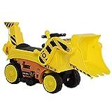homcom Ruspa Elettrica Giocattolo per Bambini da Guidare e Completamente Controllabile con Clacson e Pala Controllabile, Escavatore Giocattolo