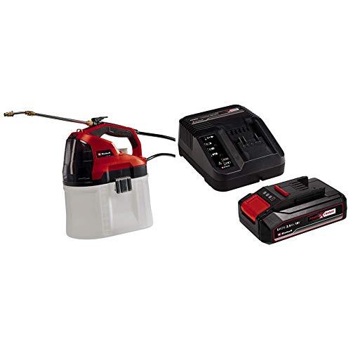 Einhell 3425220 Pulverizador presurizado con batería + Kit para principiantes que incluye Batería 2,5 Ah duración de carga 50 m+ Cargador Power X-Change