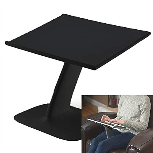 Portable Laptop Stand for Desk and Car. A Creative Space Saving Ergonomic Adjustable Laptop Computer Table, Support Holder, Riser, Rest, Or Tray (Black Color)