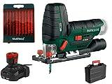 Parkside PSTKA 12 B3 - Sierra de calar a bater├нa (equipo X 12 V) con 10 hojas de sierra de calar Matrix (con bater├нa y cargador)