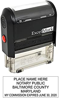 ExcelMark Self Inking Notary Stamp - Maryland