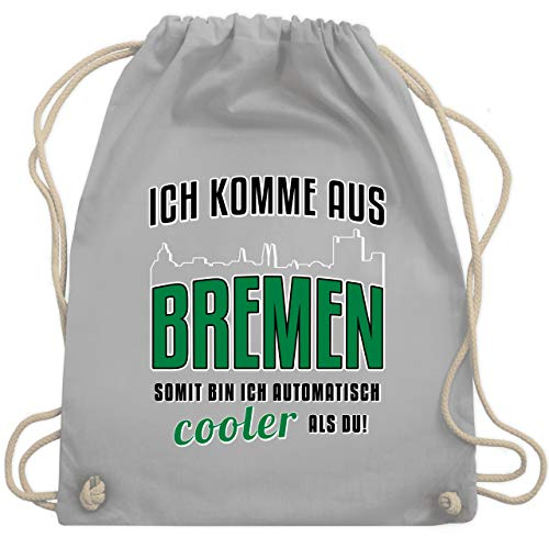 Städte - Ich komme aus Bremen - Unisize - Hellgrau - bremen fanartikel - WM110 - Turnbeutel und Stoffbeutel aus Baumwolle