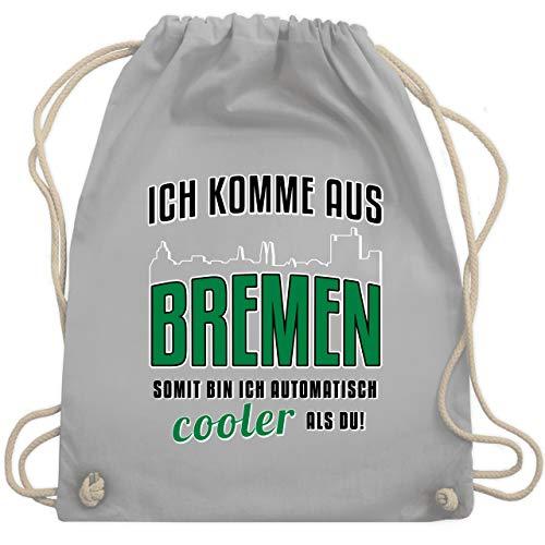 Städte - Ich komme aus Bremen - Unisize - Hellgrau - bremen turnbeutel - WM110 - Turnbeutel und Stoffbeutel aus Baumwolle