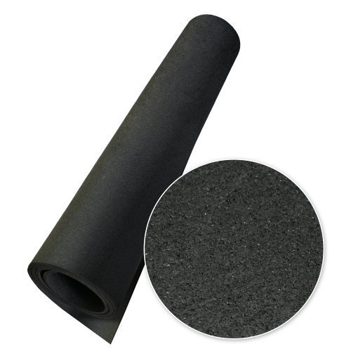 Rubber-Cal Elephant Bark Floor Mat, Black, 3/16-Inch x 4 x 20-Feet
