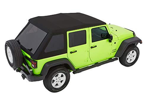 Bestop 54923-17 Black Twill Trektop NX Glide Convertible Soft Top 4-Door