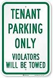 Señal de seguridad de 30,5 x 40,6 cm, con texto en inglés 'No Parking Anytime' Señal de metal con texto en inglés 'Prohibido Estacionarse (con flecha bidireccional), letrero de aluminio para la propiedad privada, señal de advertencia divertida, letrero de metal para la pared, decoración del hogar