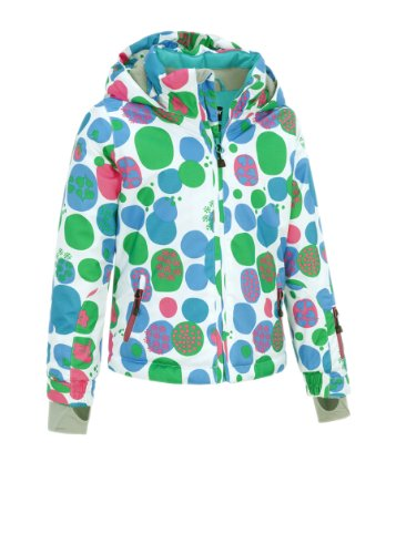 Maier Sports Kinder Jacke Mtex Nicky, white green allover, 92, 310702