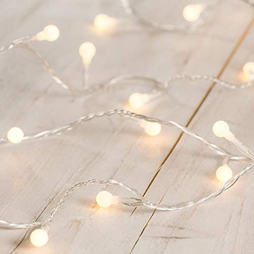 Lights4fun Indoor Berry Fairy Lights with 40 Warm White LEDs on Clear Cable